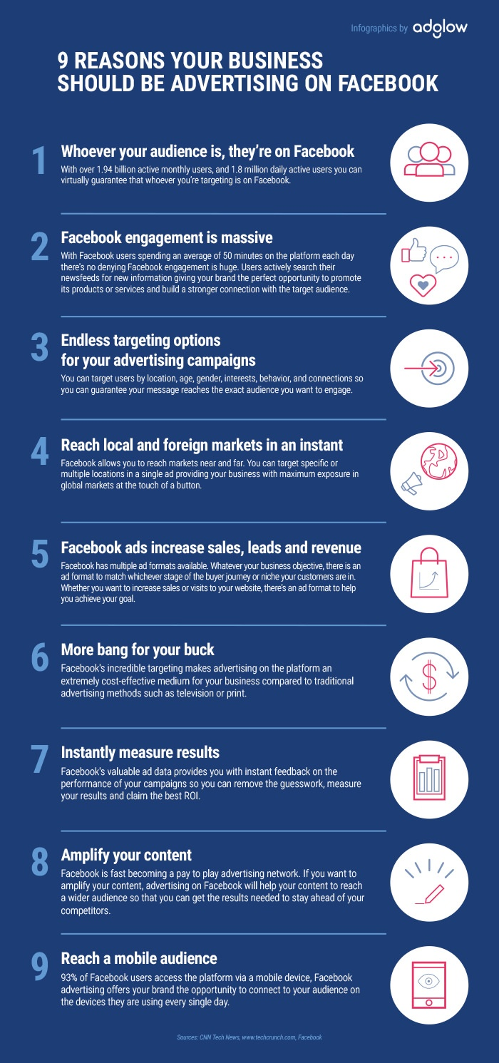 9 Reasons Your Business Should Be Advertising On Facebook {Infographic}