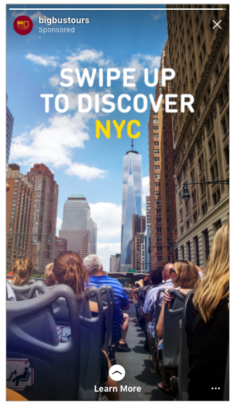 Big Bus Tours NYC ad creative